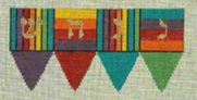 Striped Dreidel (3d)