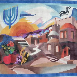 Pray for the Peace of Jerusalem Tallit