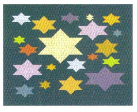 Floating Stars of Color Tallis