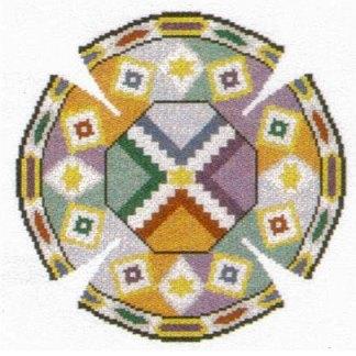 Earthtone Tiles Yarmulke