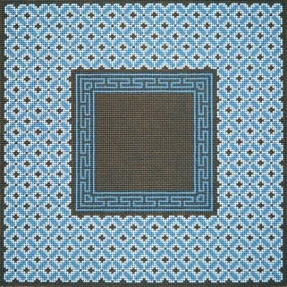 Blue and Brown Diamonds Tefillin