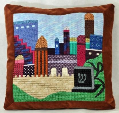 Gone Stitching Jerusalem Tefillin Canvas
