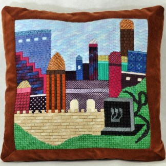 Gone Stitching Jerusalem Tefillin Canvas