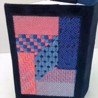 Pink and Blue Geometric Siddur