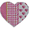 Pink Plaid Hearts