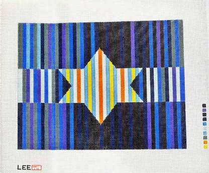 Blue Striped Star of David Tallit
