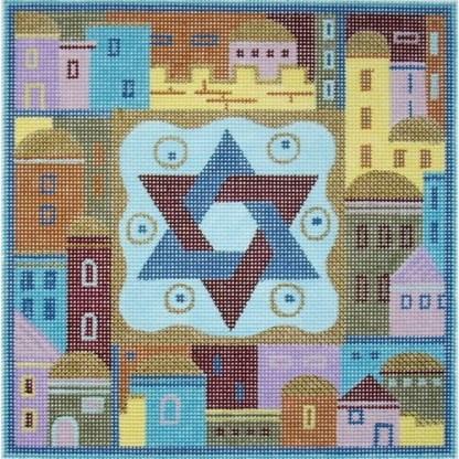 Star of David with Jerusalem Tefillin