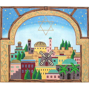 Window on Jerusalem Tallit