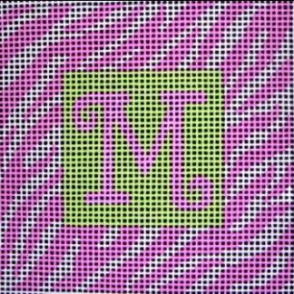 Initials- Zebra Design