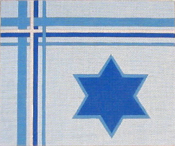 Blue Tallit with Star
