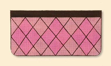 Pink Argyle Evening Bag