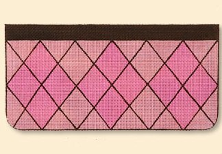 Pink Argyle Evening Bag