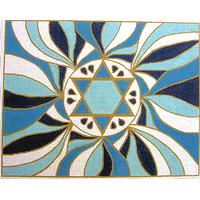 Star of David Tefillin in Blue