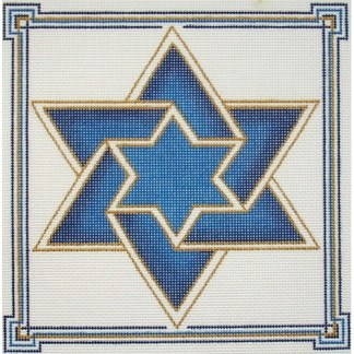 Double Star of David Tefillin (blue)