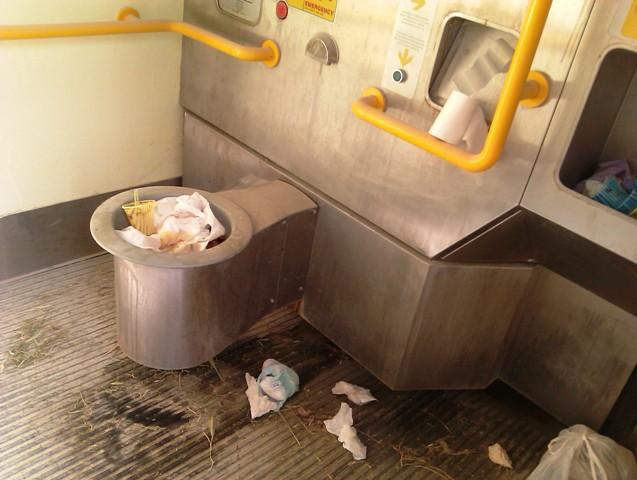 Il bagno pubblico del Parco di Serravalle vandalizzato e in condizioni incivili  gonewsit