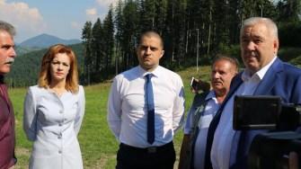 Ministrul Turismului, Bogdan Trif nu mai acceptă amânări și întârzieri la pârtia de schi de la Câmpulung Muscel. FOTO MT