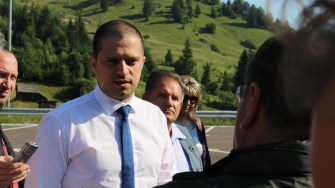 Ministrul Turismului, Bogdan Trif a inspectat pârtia de schi de la Câmpulung Muscel. FOTO MT