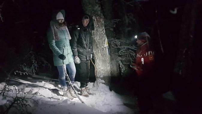 Turiștii rătăciți au fost găsiți de către salvamontiști. FOTO Salvamont Prahova