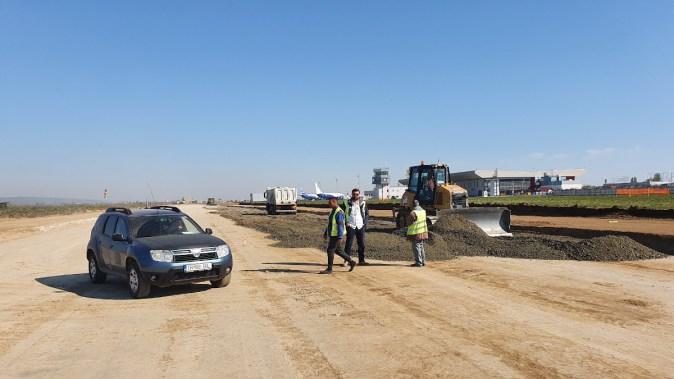 Lucrările pe Aeroportul Internațional Bacău avansează în stil alert. FOTO AIBGC