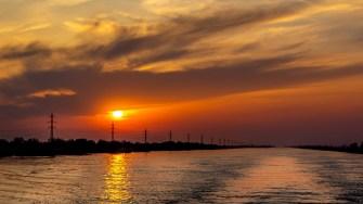Apus de soare în Sulina. FOTO Paul Alexe