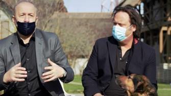 Vasile Dîncu și Charlie Ottley. FOTO Paul Alexe