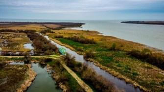 Vărsarea Brațului Sfântu Gheorghe al Dunării în Marea Neagră. FOTO Paul Alexe.