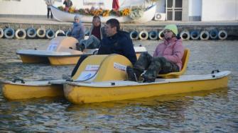 Întrecere de hidrobiciclete în Delta Dunării