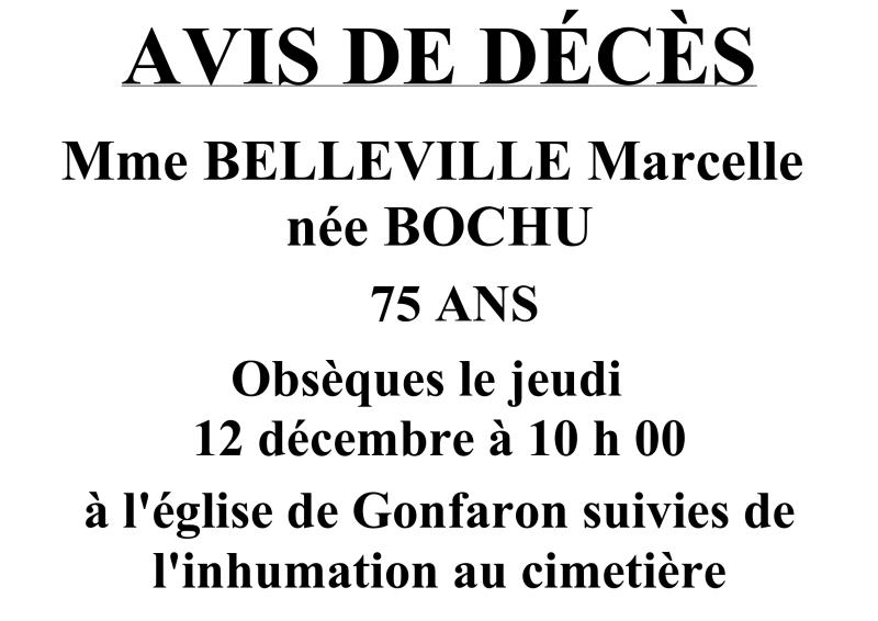 avis DC Mme Belleville