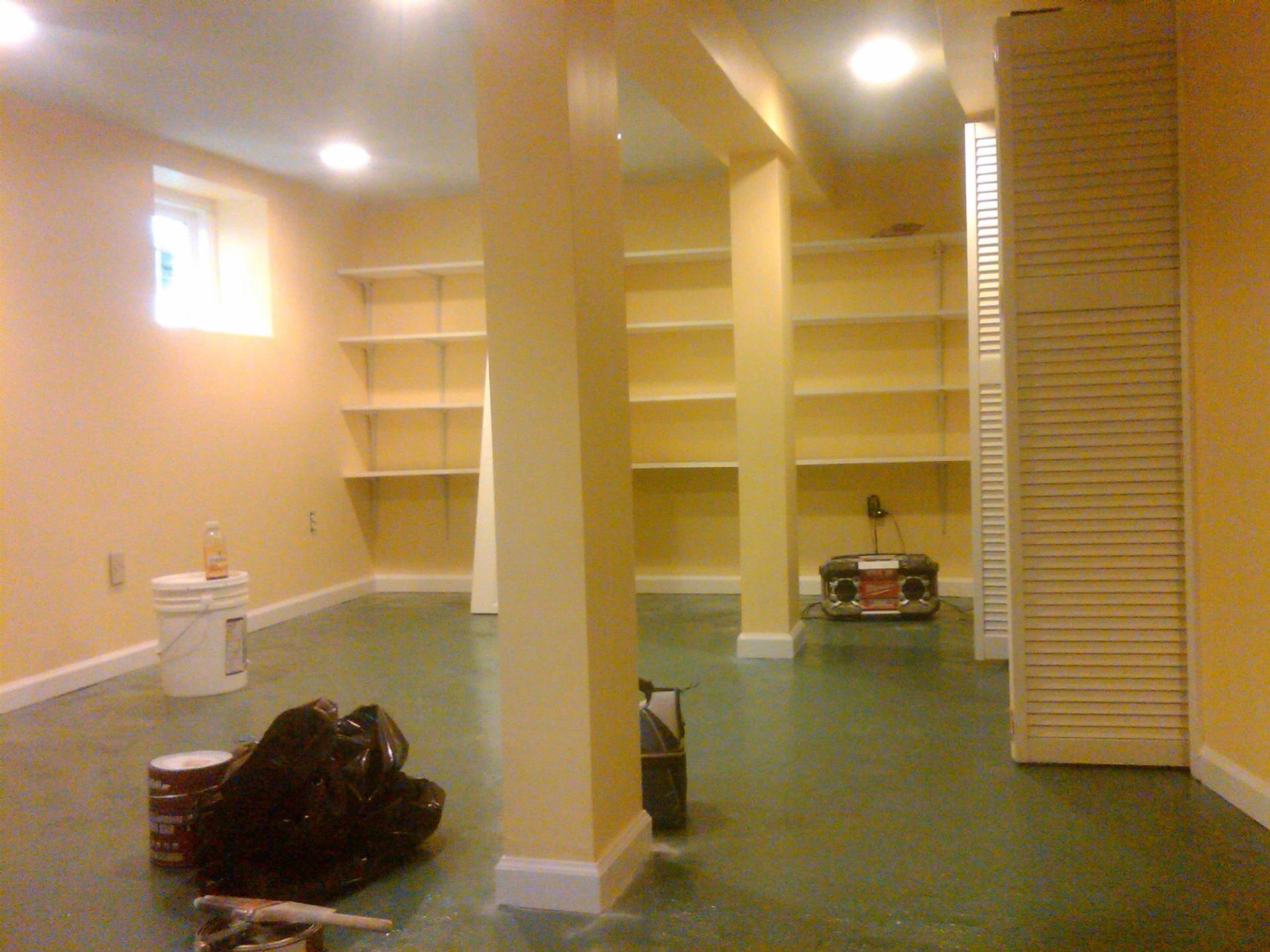 Basement Concrete Floor Paint Color Ideas 11