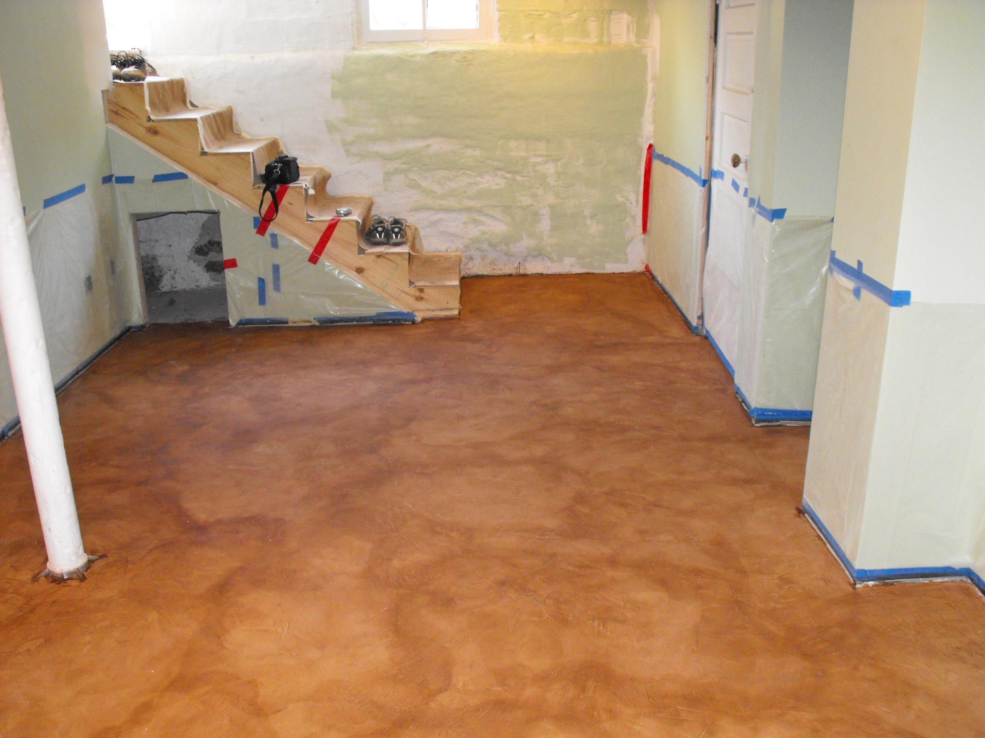 Basement Concrete Floor Paint Color Ideas 21