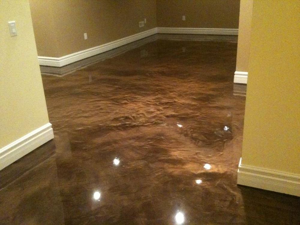Basement Concrete Floor Paint Color Ideas 22