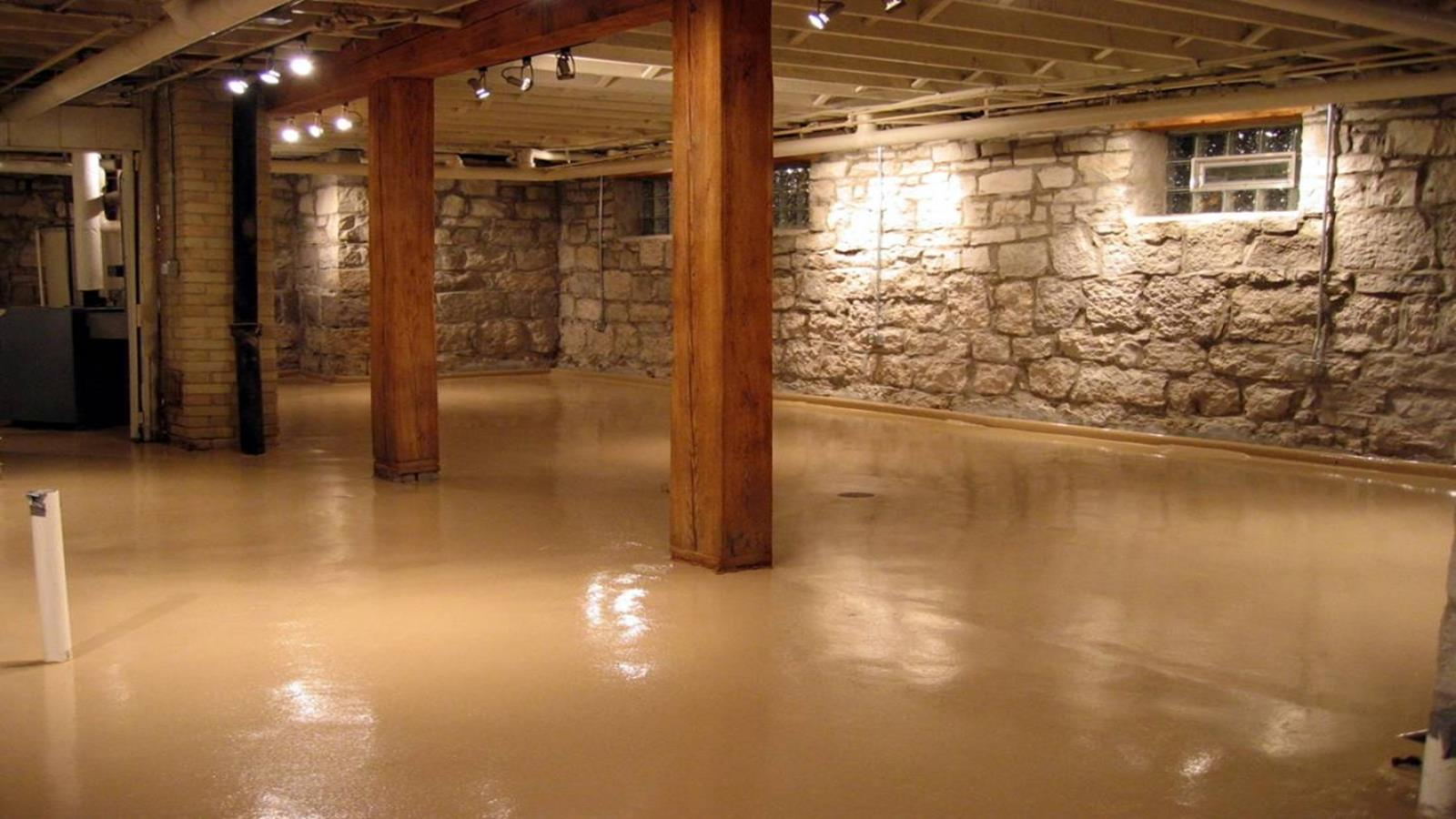 Basement Concrete Floor Paint Color Ideas 4