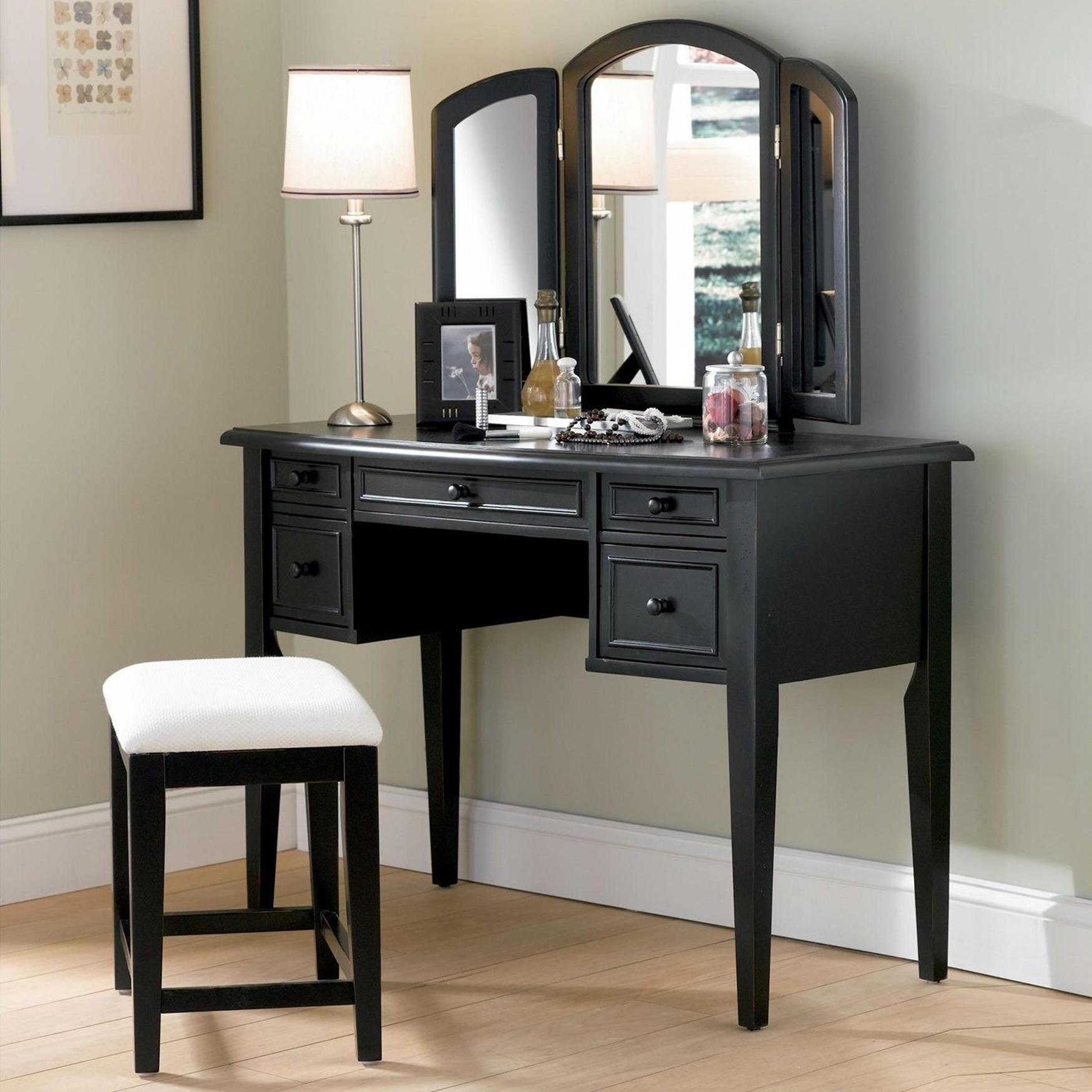 Bedroom Vanity Set With Lights Around Mirror 5