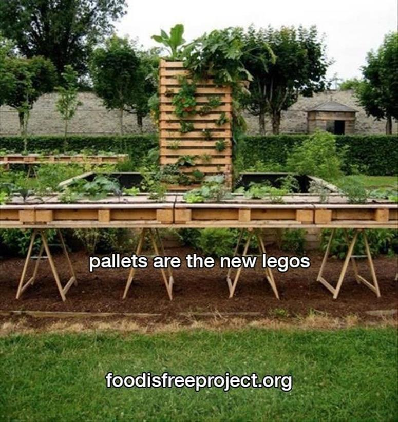 Easy Vegetable Gardening With Pallets 11