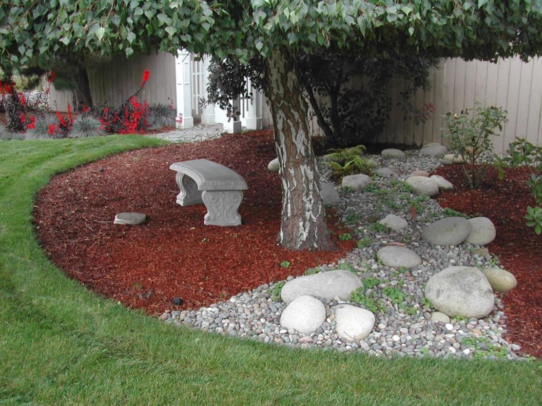 Landscaping Ideas With Rocks And Mulch 30