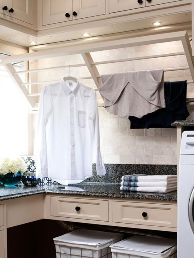 Laundry Room Hanging Rack Ideas 14
