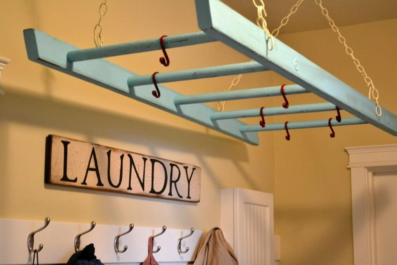 Laundry Room Hanging Rack Ideas 17