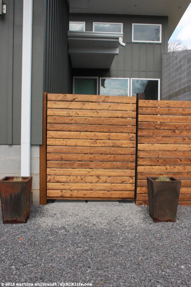 Modern Wood Fence Design Ideas 25