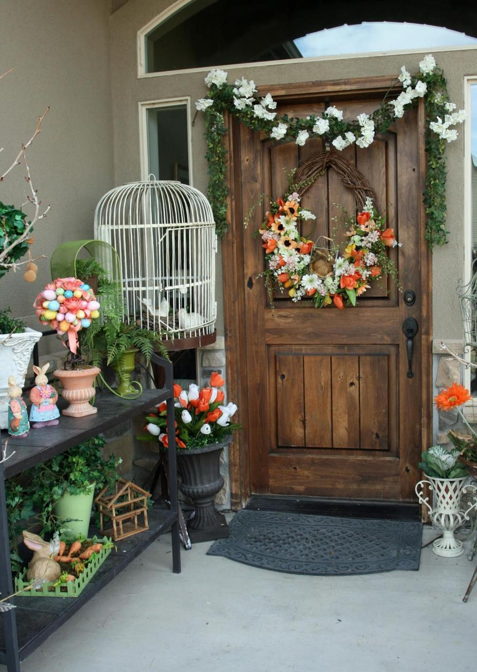 Spring Garden Decorating Ideas for Front Porch 19