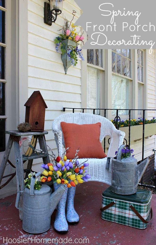 Spring Garden Decorating Ideas for Front Porch 33