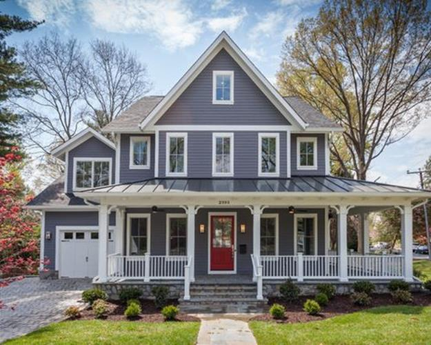 Traditional Farmhouse Interior and Exterior Colors Ideas 13