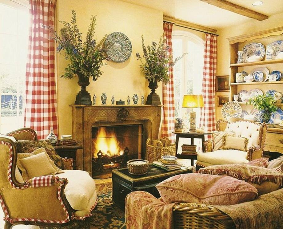 Country Style Living Room Decorating Ideas 8