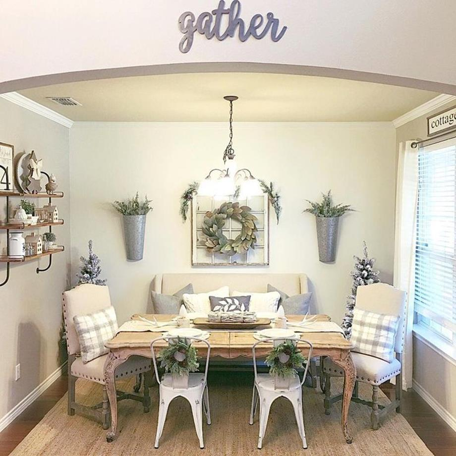 Farmhouse Dining Room Decorating Ideas 1