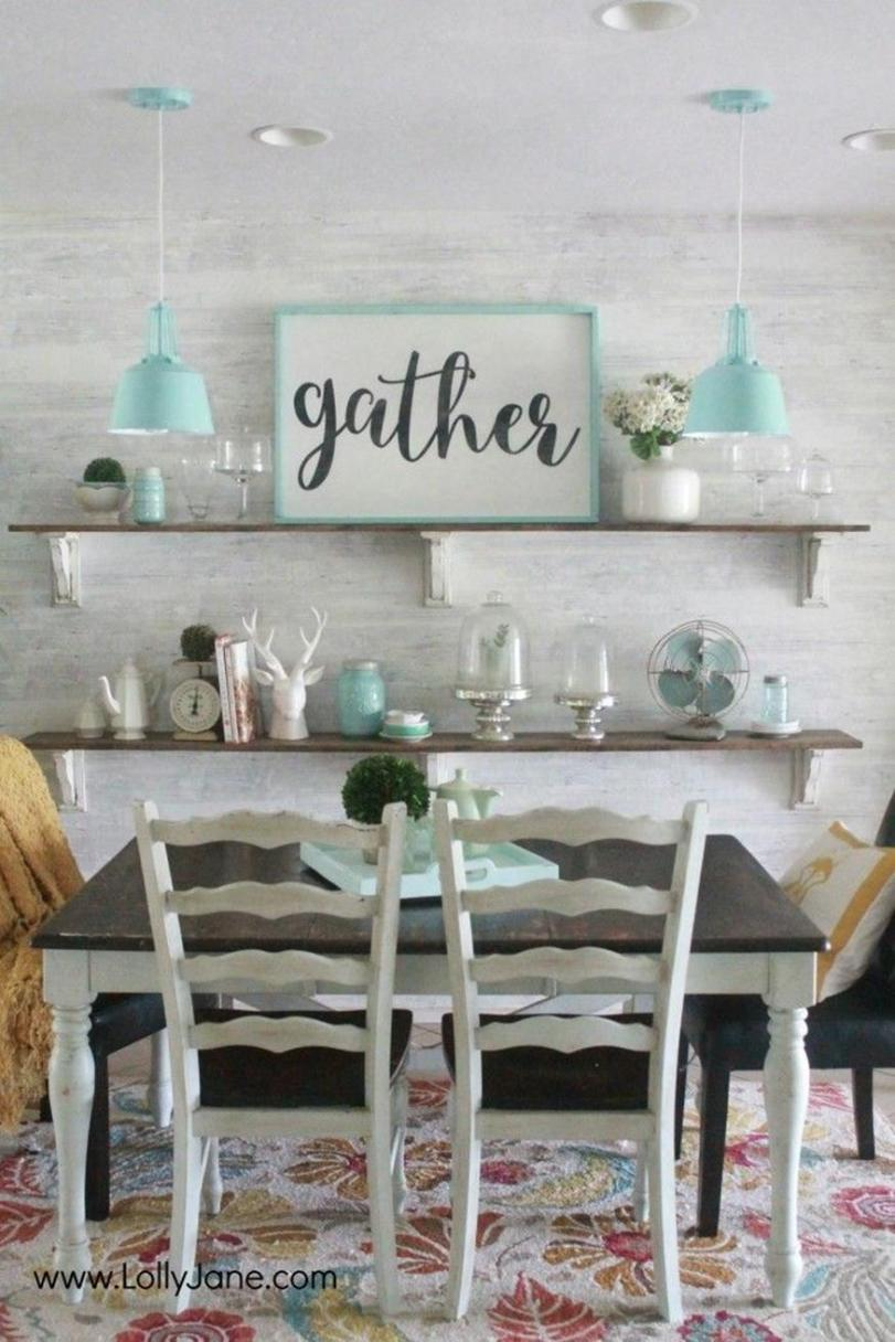 Farmhouse Dining Room Decorating Ideas 14