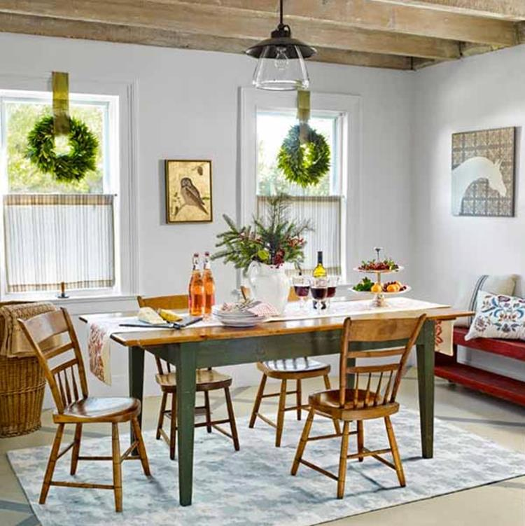 Farmhouse Dining Room Decorating Ideas 24