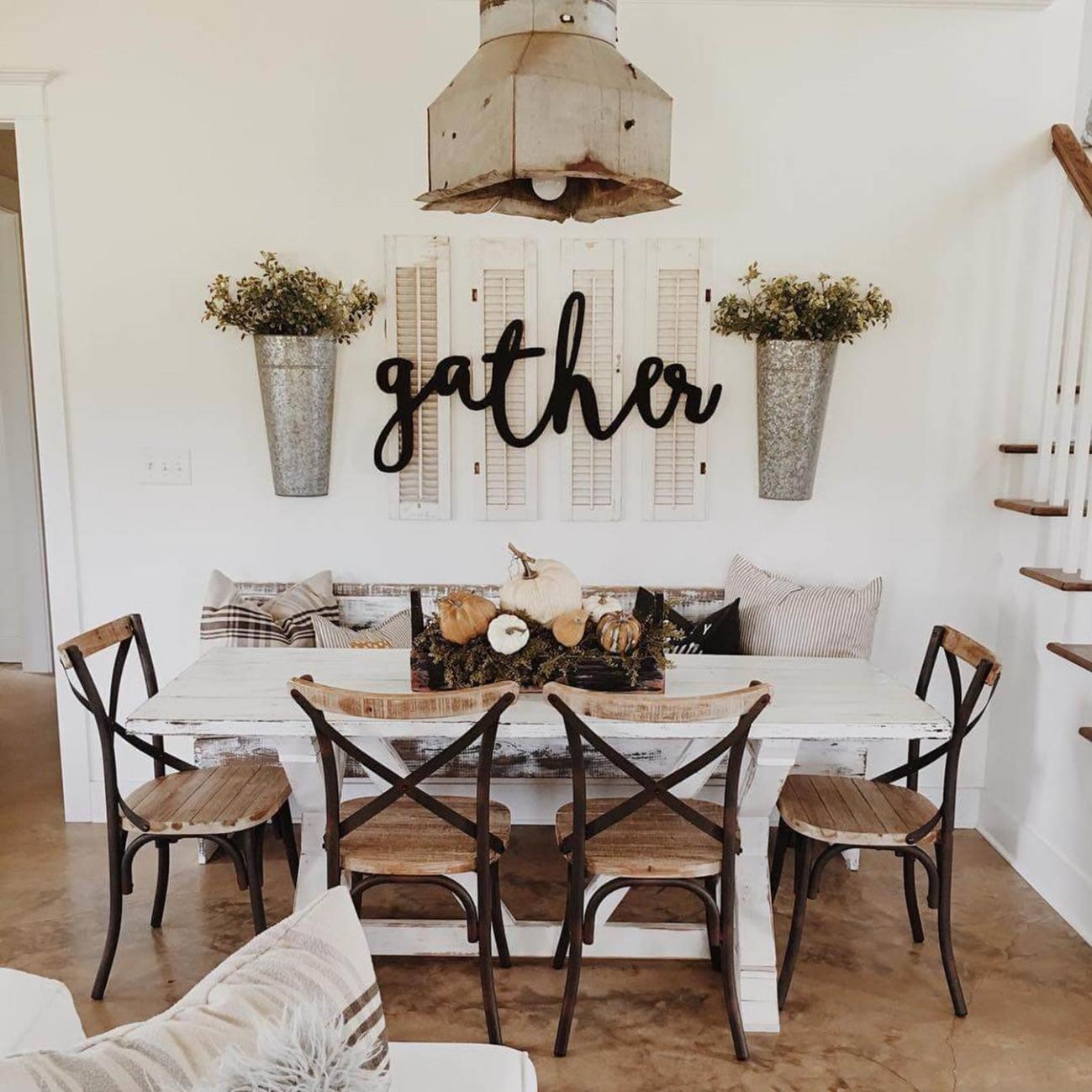 Farmhouse Dining Room Decorating Ideas 3