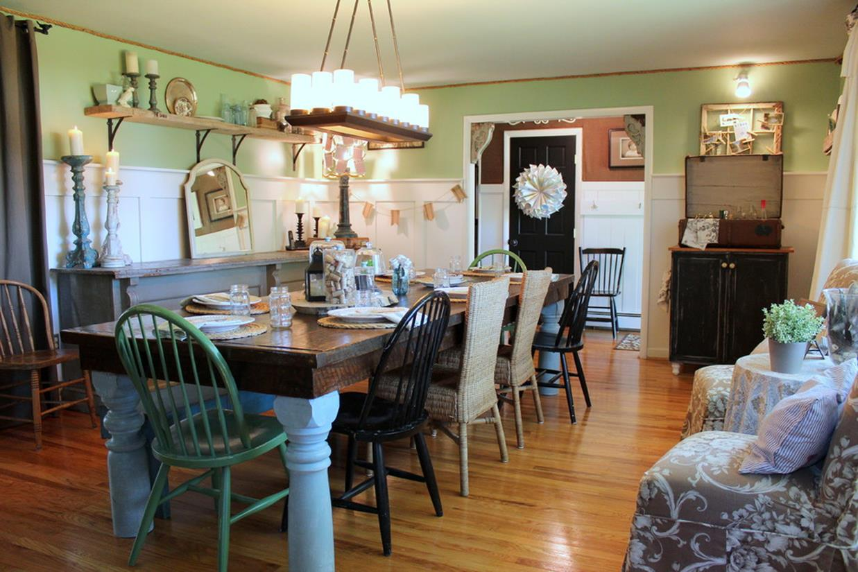 Farmhouse Dining Room Decorating Ideas 38