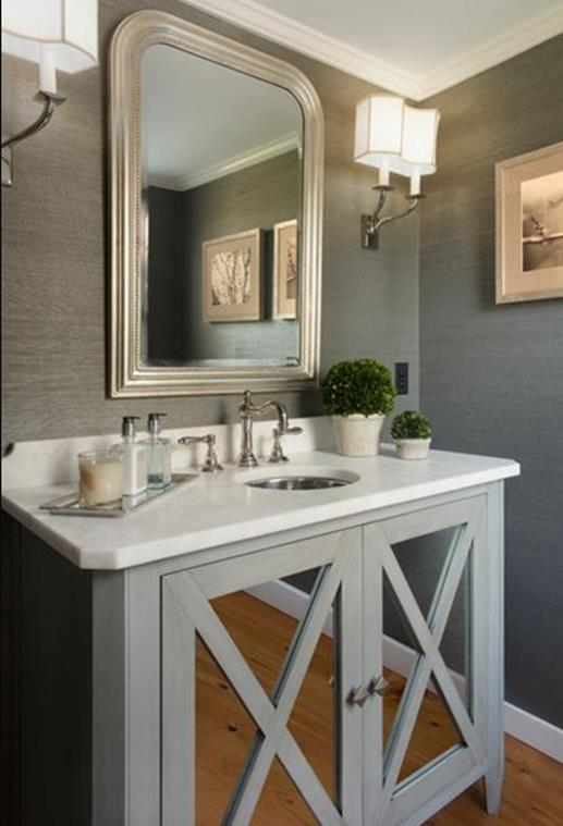 Gray Half Bathroom Decorating Ideas On A Budget 18