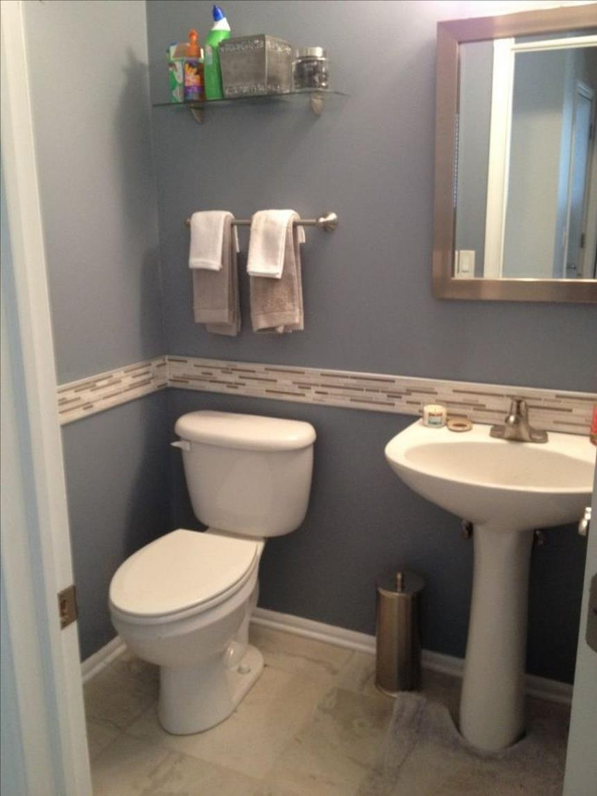 Gray Half Bathroom Decorating Ideas On A Budget 24