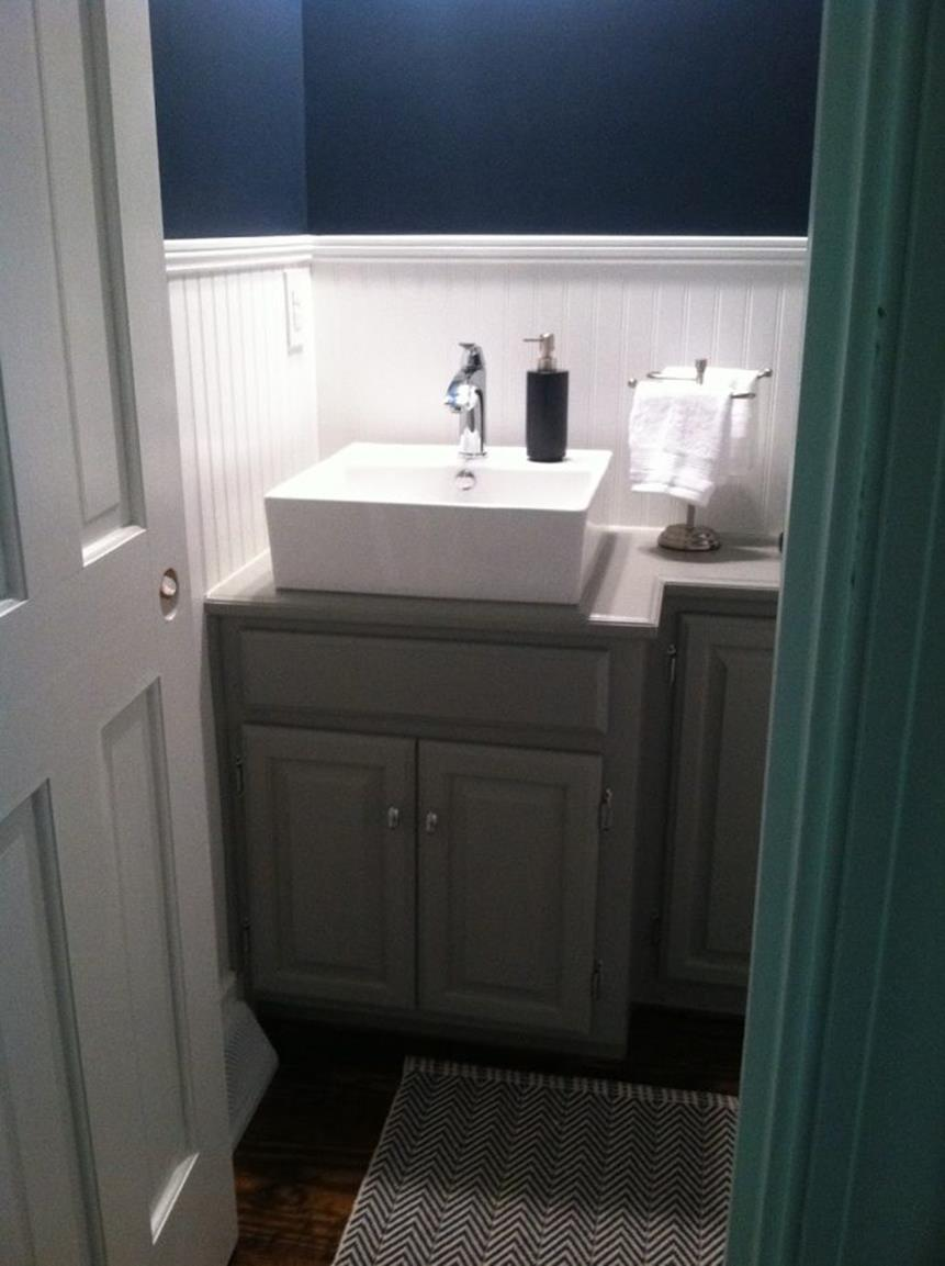 Gray Half Bathroom Decorating Ideas On A Budget 3